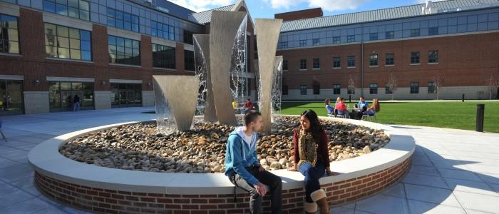 Fountain at Waterbury Campus